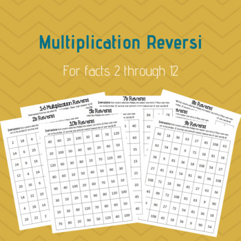 Multiplication Reversi Facts 2 - 12