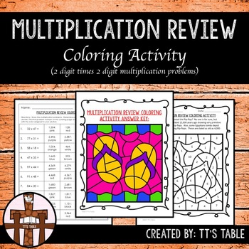 Multiplication Review Coloring Activity