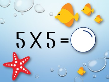 Multiplication Review Game. Interactive.Timed Math Facts 0-10. Fish. PowerPoint!