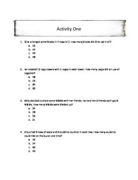 Multiplication Review Game Mystery Clues