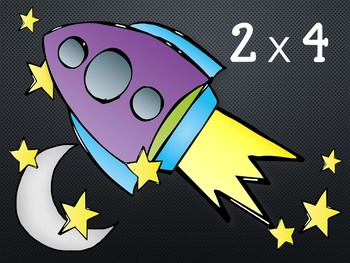 Multiplication Review Game. Powerpoint. Rockets.Fact Families 0-5