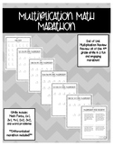 Multiplication Review Math Marathon Paper AND Nearpod Versions