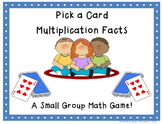 Multiplication Review Pick a Card Game (facts 2-12)-CCSS Aligned