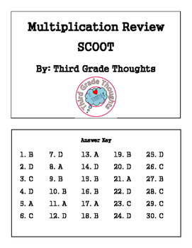Multiplication Review - SCOOT
