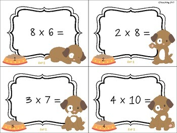 Multiplication Review Set 2