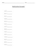 Multiplication Review Worksheets