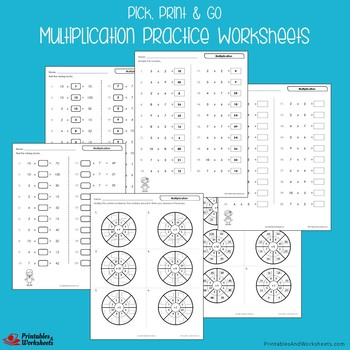 Fluency Centers, Multiplication Review Packet Worksheets