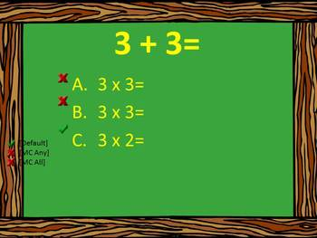 Multiplication Review of 3  for CPS Clickers