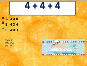 Multiplication Review of 4 for CPS Clickers