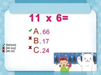 Multiplication Review of 6 for CPS Clickers