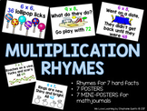 Multiplication Rhymes Posters and Mini-Versions