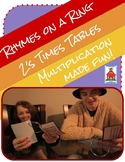 Multiplication Rhymes on a Ring 2s Fact Times Tables Fluency