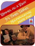 Multiplication Rhymes on a Ring 3s Fact Times Tables Fluency
