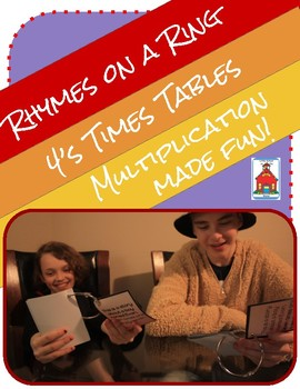 Multiplication Rhymes on a Ring 4s Fact Times Tables Fluency