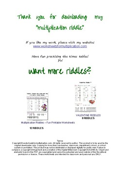 Multiplication Riddle