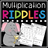 Multiplication Facts Riddles - Single Digit Multiplication Worksheets