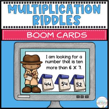 Multiplication Riddles Digital Task Cards Boom Cards