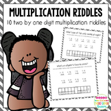 Multiplication Riddles: Two digit by one digit