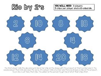 Multiplication Rio Boards 2-9