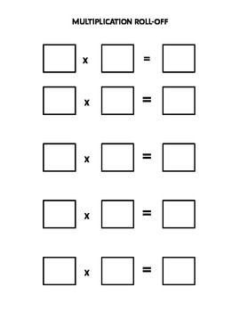 Multiplication Roll Off Page