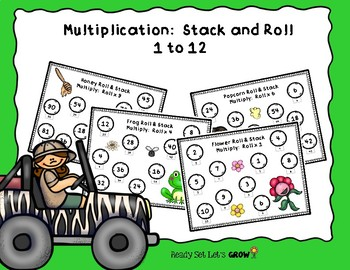 Multiplication Roll & Stack 1 to 12