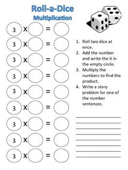 Multiplication Roll-a-Dice