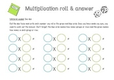 Multiplication Roll and Answer
