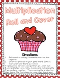 Multiplication Roll and Cover {Valentine's Day Themed} for Factors 1-6