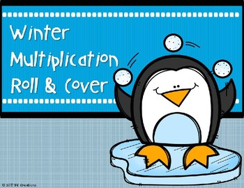 Multiplication Roll and Cover {Winter Theme}
