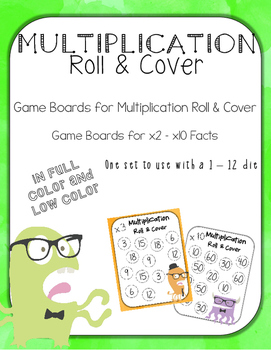 Multiplication Roll and Cover for 12-Sided Dice