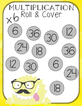 Multiplication Roll and Cover for 6-Sided Dice