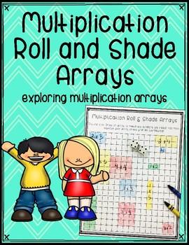 Multiplication Roll and Shade Arrays - FREEBIE