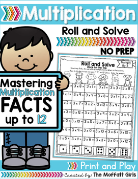 Multiplication: Roll and Solve