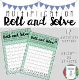Multiplication Roll and Solve