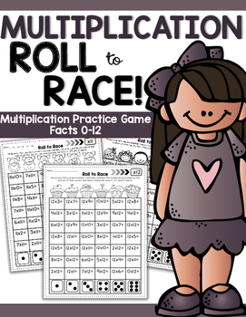 Multiplication Roll to Race Printable Game