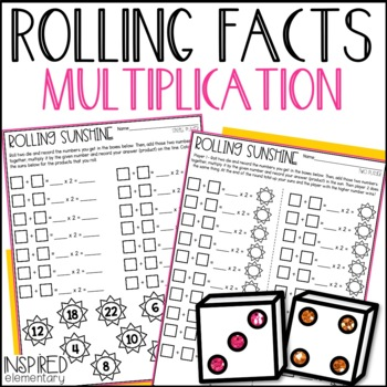 Multiplication Rolling Facts: Multiplication Facts to 12