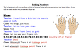 Multiplication Rolling Number Chants