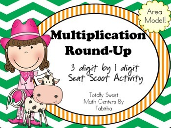 Multiplication Round-Up Seat Scoot 1x3 digit area model