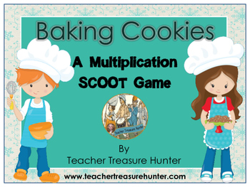 Multiplication SCOOT Game Freebie