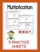 Multiplication STAAR Review Practices Worksheets