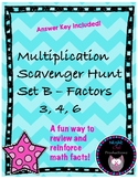 Multiplication Scavenger Hunt B