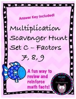 Multiplication Scavenger Hunt C