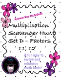 Multiplication Scavenger Hunt D