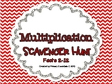 Multiplication Scavenger Hunt Facts 2-12