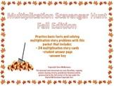 Multiplication Scavenger Hunt: Fall Edition