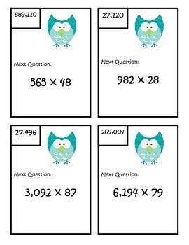 Multiplication Scavenger Hunt - Fifth Grade - 5.NBT.5