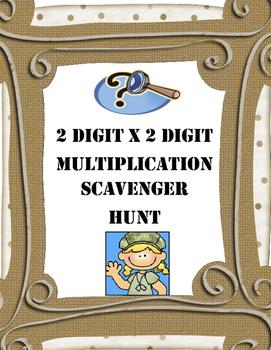 Multiplication Scavenger Hunt Game (2 x 2 digit)     4.NBT