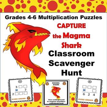 Multiplication Scavenger Hunt Grades 4-6
