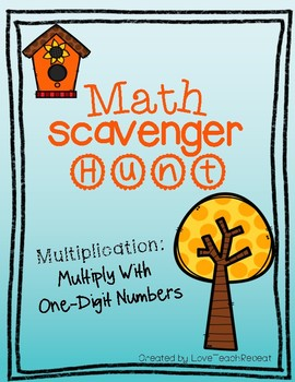 Multiplication Scavenger Hunt- Multiplication with One-Digit Numbers