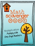 Multiplication Scavenger Hunt- Multiplication with One-Dig